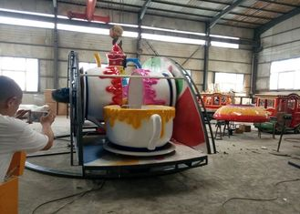 Indoor / Outdoor Teacup Amusement Ride Dengan Under Base Dan Sistem Transmisi