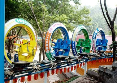 Multi Warna UFO Cycle Monorail Ride, Track Car Model Roller Coaster Atraksi